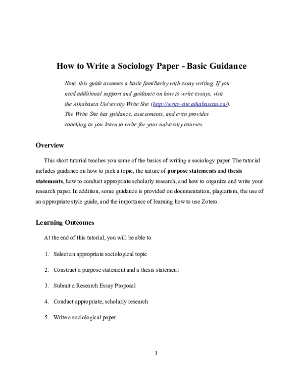 Tips for writing a sociology paper experience focused resume template