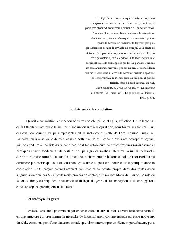 Marie De France Research Papers Academia Edu