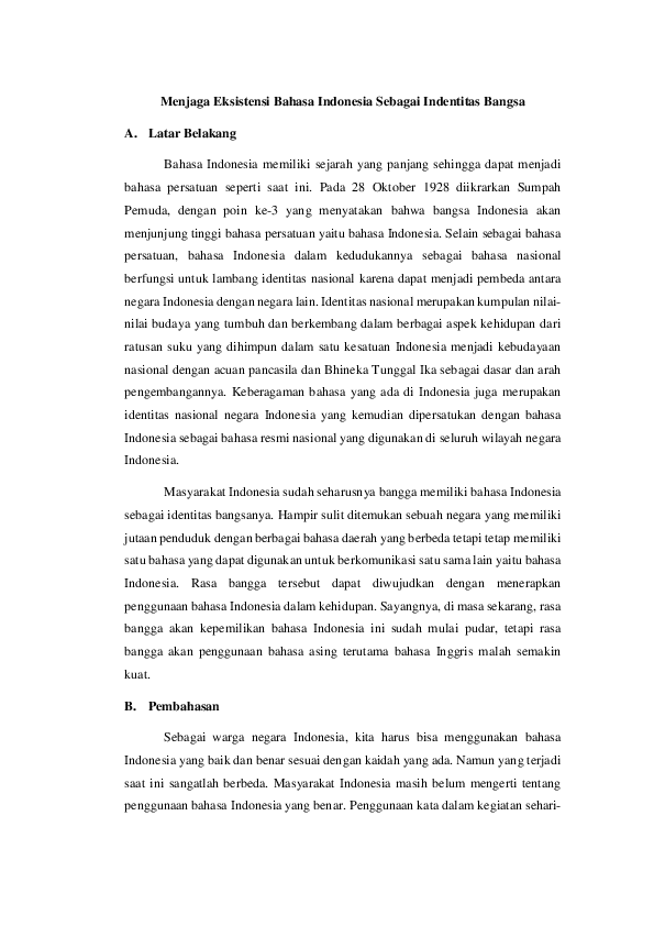 Identitas Nasional Research Papers Academia Edu