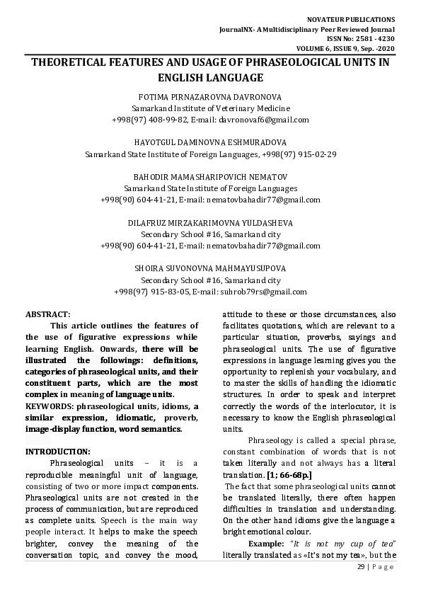 Phraseological units is a complex phenomenon term paper colorado state university essay topics