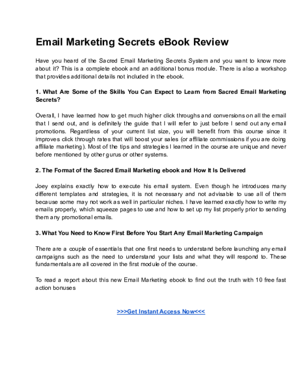 email marketing research papers