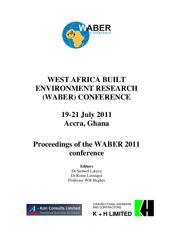 1200x ea de c0.htm pdf  proceedings of the west africa built environment research  pdf  proceedings of the west africa