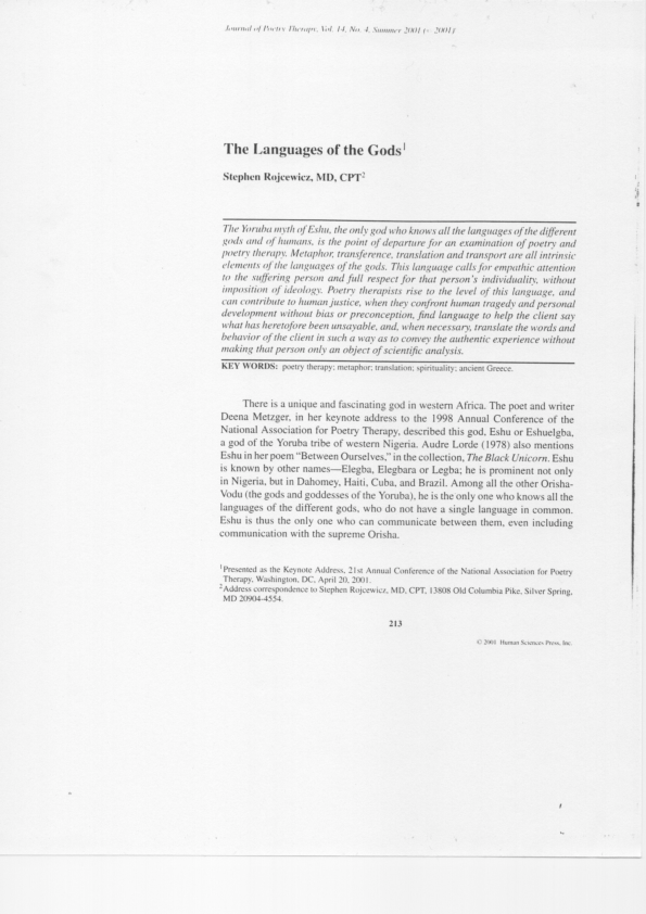 Termpaper on yoruba religion how to list a gap in employment on a resume