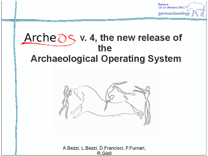 PDF) ArcheOS v 4, the new release of the Archaeological Operating