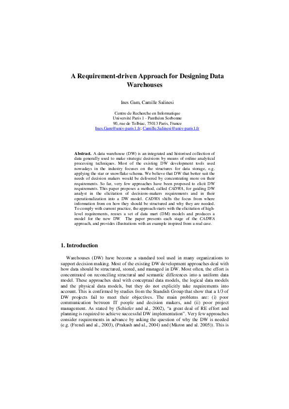 PDF) A Requirement-driven Approach for Designing Data