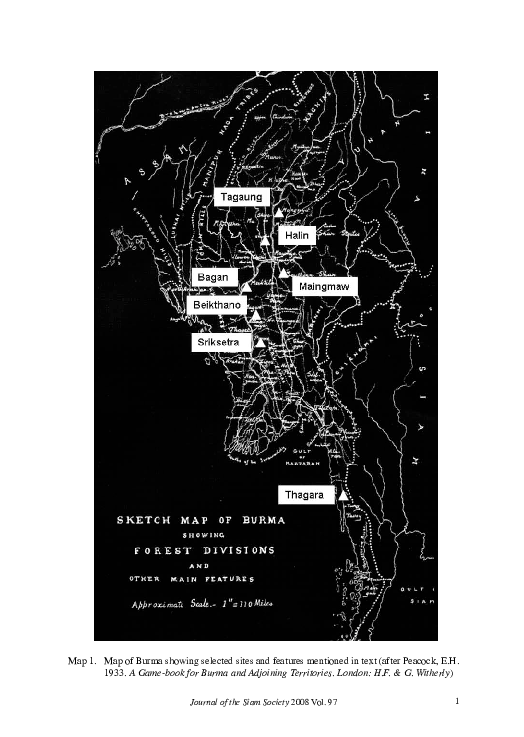PDF) Place and space in early Burma: a new look at 'Pyu