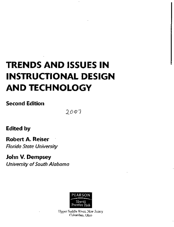 Pdf Trends And Issues In Instructional Design And Technology Michelle Childress Academia Edu