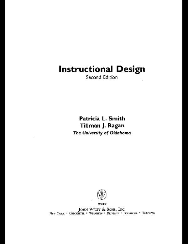 Pdf Instructional Design Michelle Childress Academia Edu