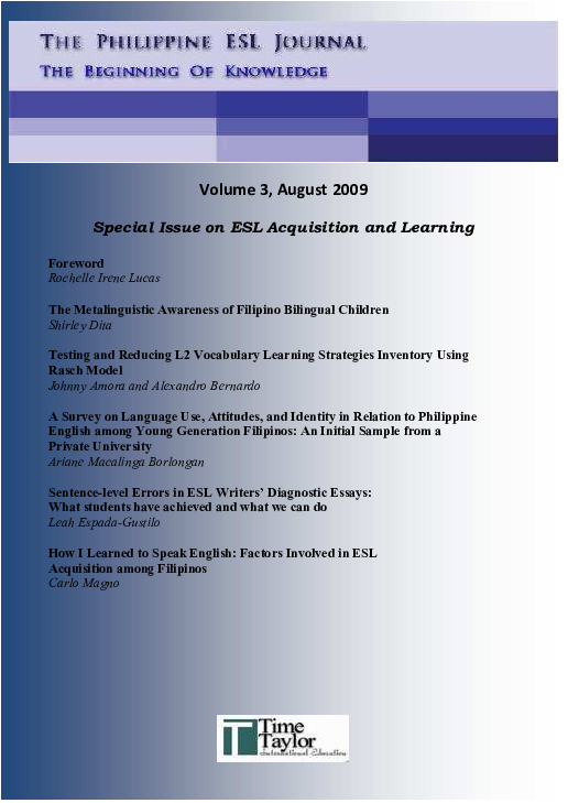aa15a299c4a PDF) The Metalinguistic Awareness of Filipino Bilingual Children ...