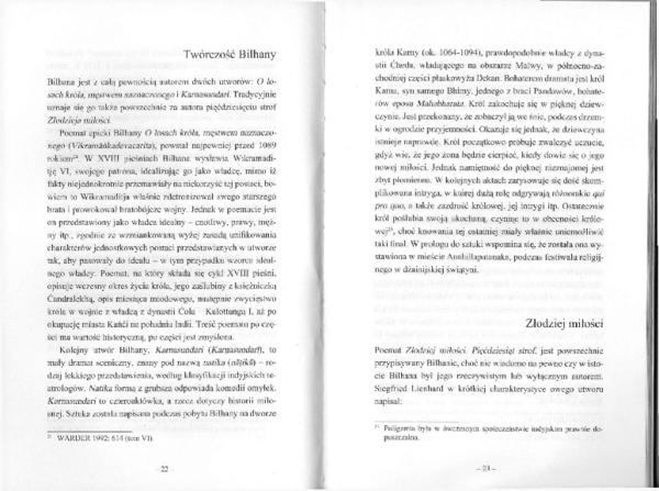 Pdf Wstęp Fragment Ss22 69 Do Bilhana Złodziej