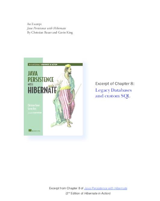PDF) Java Persistance with Hibernate | Mohammad Aurangzaib