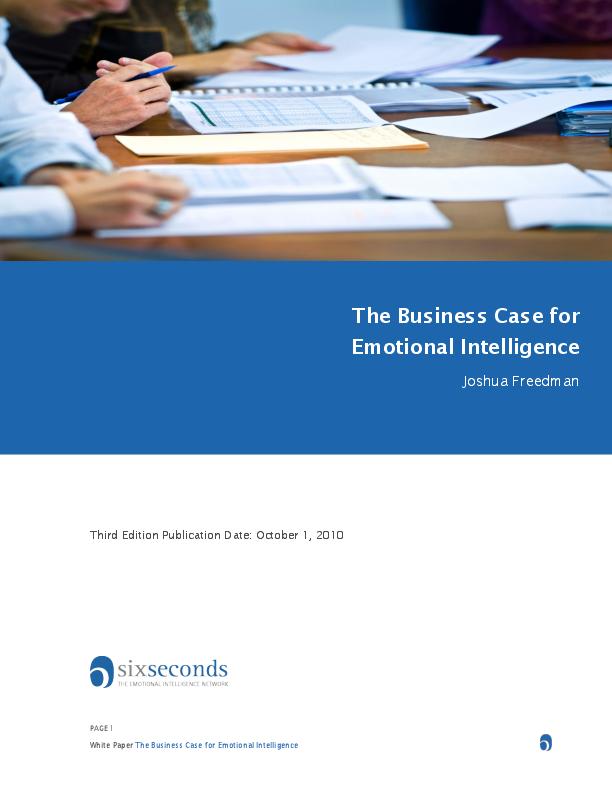 PDF) The Business Case for Emotional Intelligence | Joshua Freedman