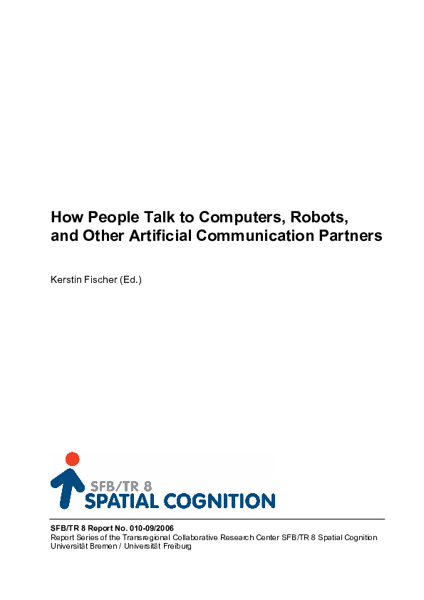 PDF) How people talk to a virtual human-conversations from a