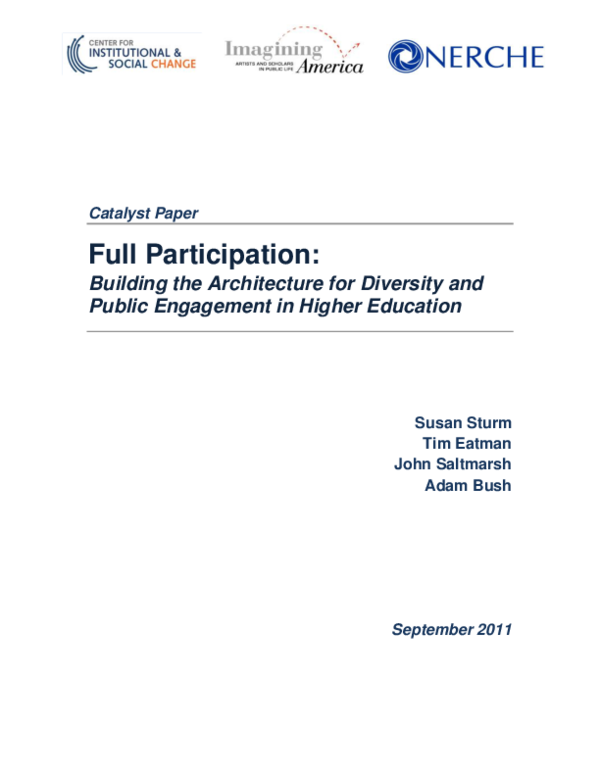 PDF) Full Participation: Building the Architecture for