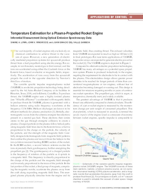 PDF) Temperature estimation for a plasma-propelled rocket