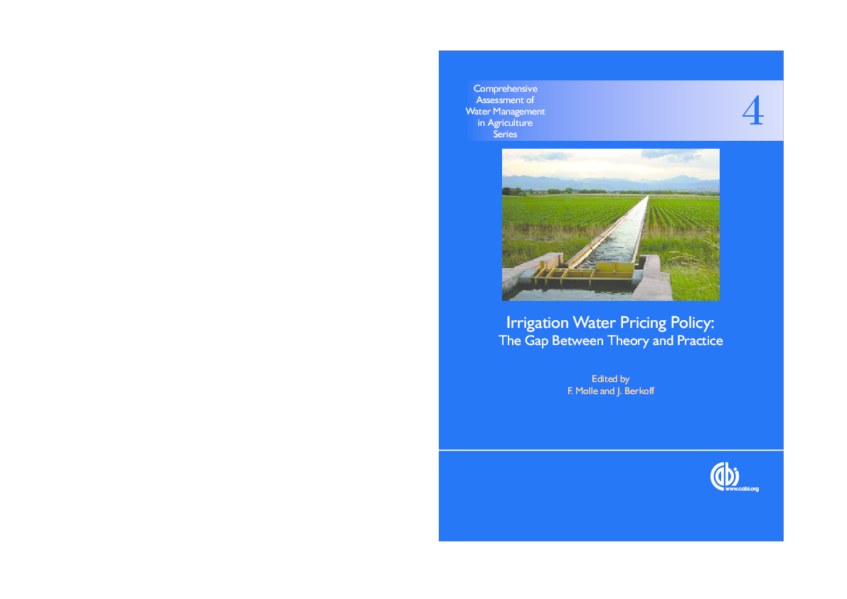 PDF) Irrigation water pricing: the gap between theory and