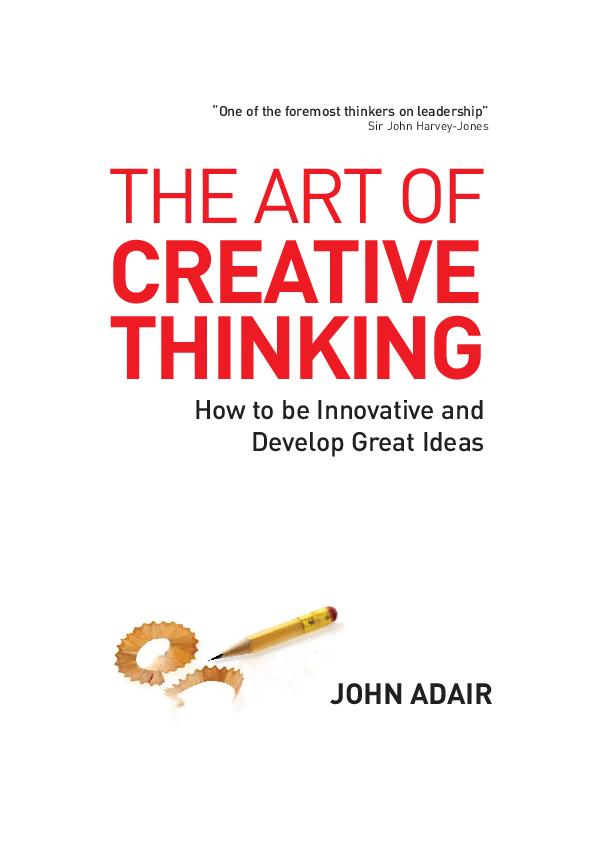Creative Thinking Pdf