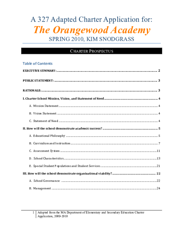 PDF) Charter School for Foster Children, The Orangewood