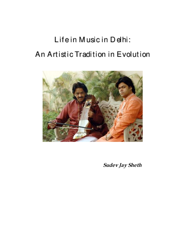 PDF) Life in Music in Delhi: An Artistic Tradition in