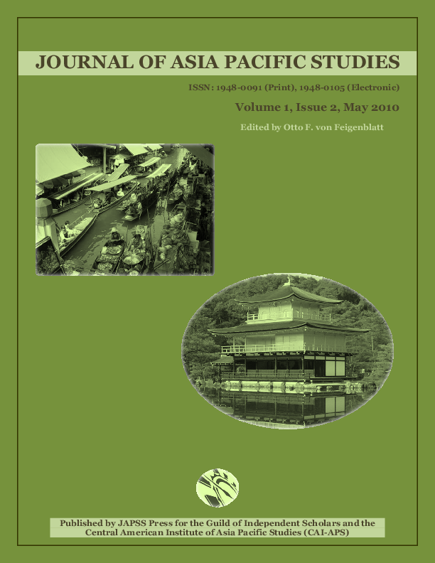 PDF) Journal of Asia Pacific Studies, Vol 1, No 2, May 2010