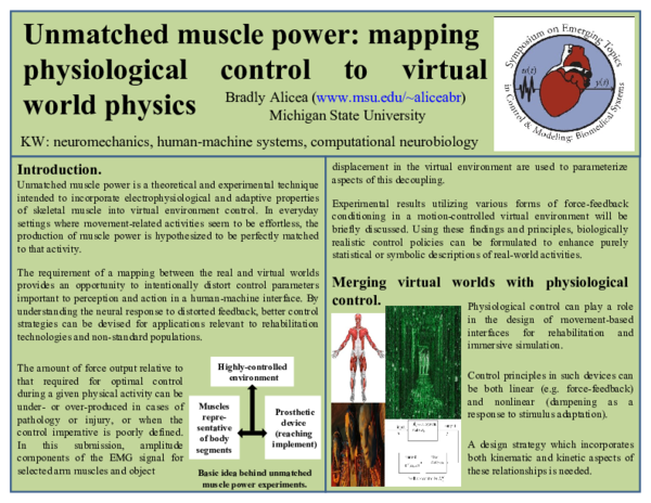 PPT) Unmatched muscle power: mapping physiological control to