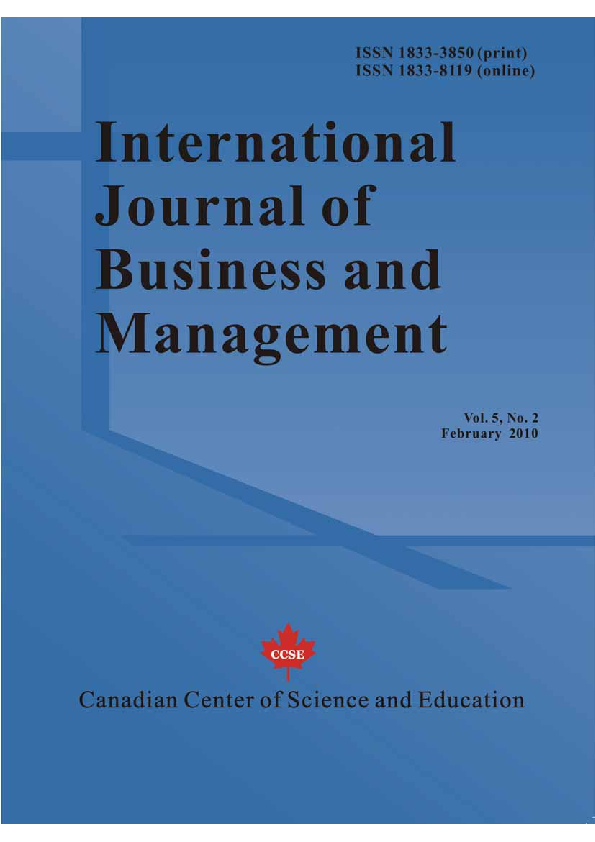 Pdf International Journal Of Business And Management Vol 5 No 2 February 2010 All In One Pdf File Arash Shahin Academia Edu