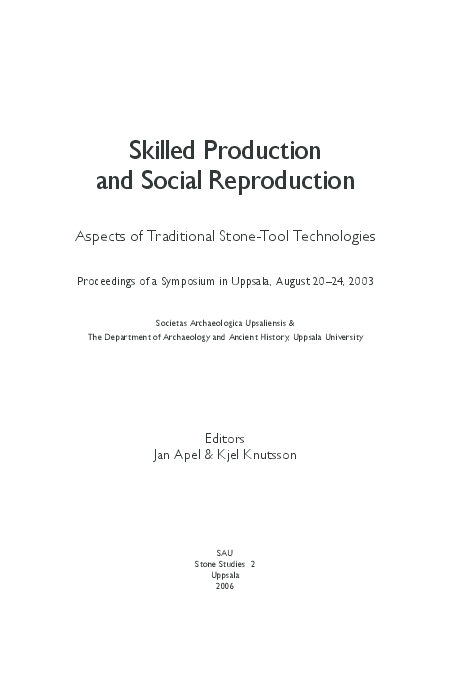 0a2fa23eb8 Skilled Production and Social Reproduction  Aspects of Traditional ...